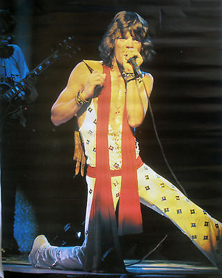 RARE THE ROLLING STONES MICK JAGGER 1980 VINTAGE ORIGINAL MUSIC POSTER