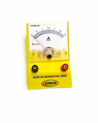 Eisco Labs Analog Ammeter Dc Current Meter 0 - 3 Amp 0.05a Resolution
