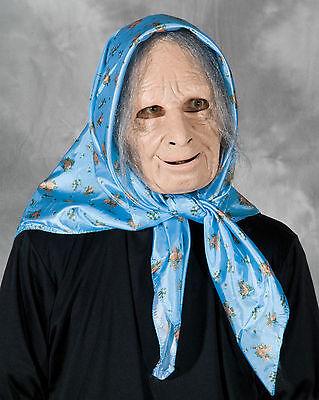 Funny Nana Grandma Old Woman Female Scary Halloween Costume Mask