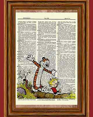 Calvin and Hobbes Dictionary Art Print Book Page Picture Poster Comic Book Decor - Comic Book Decor