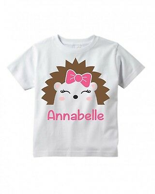 Cute Hedgehog Face Eyes Toddler or Child T-Shirt  ~ Personalized  - Hedgehog Kids