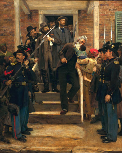 Last Moments Of Slavery Abolitionist John Brown Painting Real Canvas Art Print