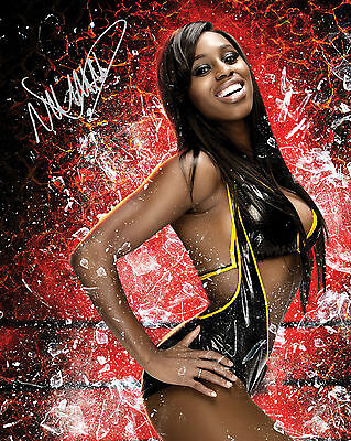 NAOMI #1 (WWE) - 10X8 PRE PRINTED LAB QUALITY PHOTO (SIGNED) (REPRINT)