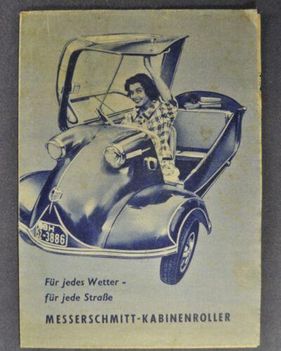 1955 Messerschmitt KR 175 KR 200 Brochure Folder Nice Original 55 German Text