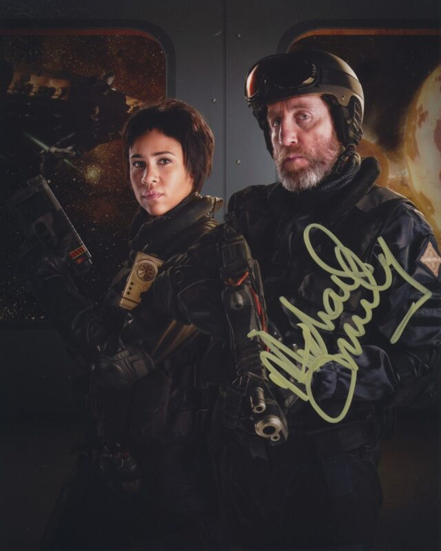 MICHAEL SMILEY SIGNED DOCTOR WHO 8X10 PHOTO