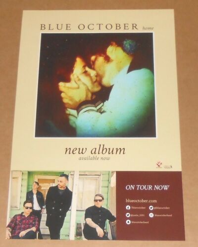 Blue October Home Poster Original 2016 Promo 11x17