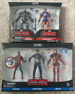Marvel Legends Civil War Spiderman Ironman Captain America War Machine Mark 27