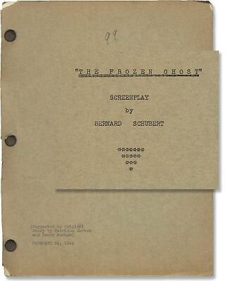Lon Chaney INNER SANCTUM THE FROZEN GHOST Original screenplay for the #128954