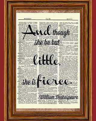 Shakespeare Dictionary Art Print Book Page Inspirational Gift Picture Poster - Inspirational Gift Book