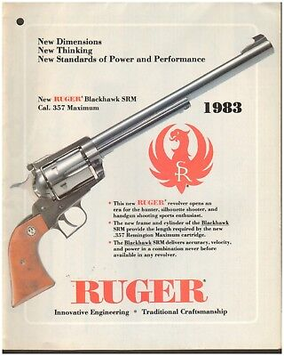 Ruger Quality Firearms Brochure - 1983