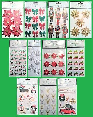 U CHOOSE Hobby Lobby CHRISTMAS Paper Crafts Stickers Holly Poinsettias Reindeer - Christmas Scrapbook