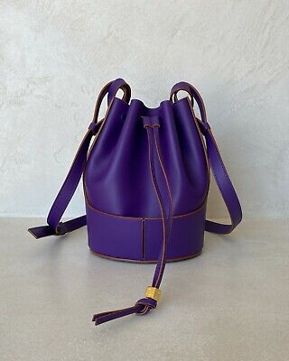LOEWE 2021 BALLOON SMALL BAG NAPPA CALFSKIN PURPLE