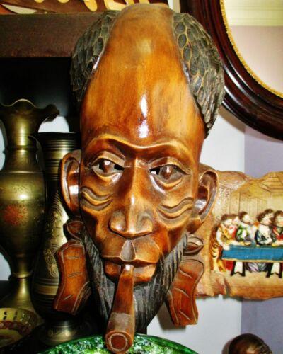 Vintage African mask (origin Mozambique) handmade
