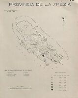 1938 Comuni Provincia La Spezia Carta Topografica Bolano Ameglia Vernazza Follo -  - ebay.it