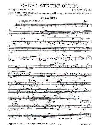Canal Street Blues Dixieland Jazz Combo Arrangement Sheet Music