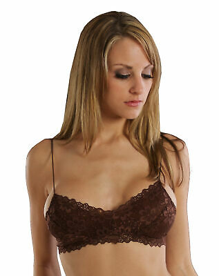 Honeydew Lace Wireless Bandeau Bralette 1147 - Chocolate, S