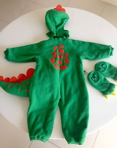 Kids Halloween Dress-up Costume GREEN DINOSAUR Size 3/4 Years Coorparoo Brisbane South East Preview