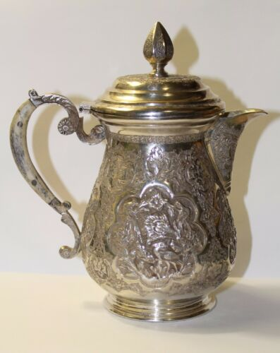 ANTIQUE  PERSIAN HANDMADE SILVER BEAUTIFUL SMALL TEAPOT