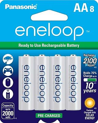Panasonic Eneloop AA (BK-3MCCA8BA) Ni-MH Rechargeable Batteries (8 Pack) for sale  Shipping to India