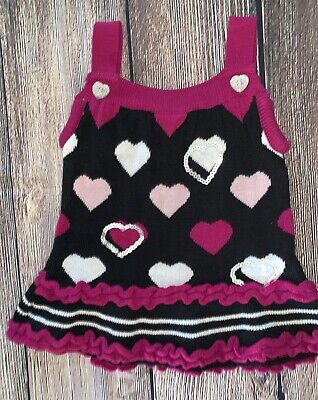 Baby girls size 6/9 months sleeveless multicolor sweater dress
