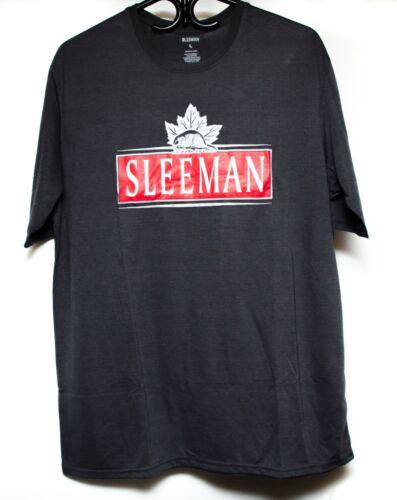 Sleeman Beer Shirt Short Sleeve Large Charcoal Grey New Seald