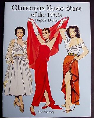 1950's Hollywood Movie Star Paper Dolls & Cinema Costumes Book Fashion History