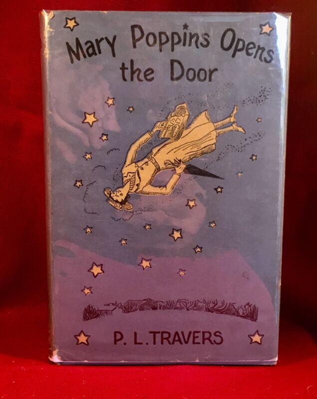 Mary Poppins Opens The Door By P. L. Travers 1st Us Edition In Dust Jacket