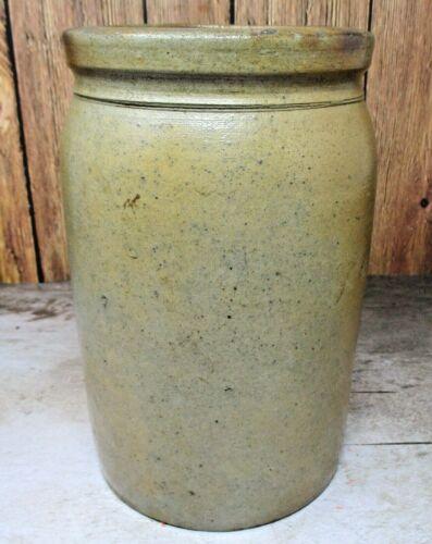 Antique Primitive 1/2 Gallon Crock Shop of David Parr James River Valley EXCLT.