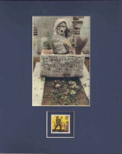 JIM MORRISON GRAVESITE - THE DOORS - FRAMEABLE POSTAGE STAMP ART - 0350