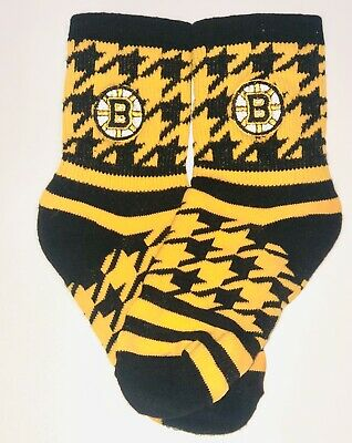 Boston Bruins NHL Hockey Youth Stars Crew Socks By For Bare Feet