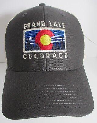 0c66b7f2e1ce1 Grand Lake Colorado Hat Cap Trucker USA Embroidery Unisex New