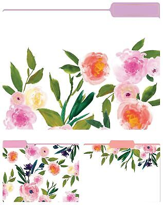 Eccolo Floral Top Tab File Folders Letter Size St617c
