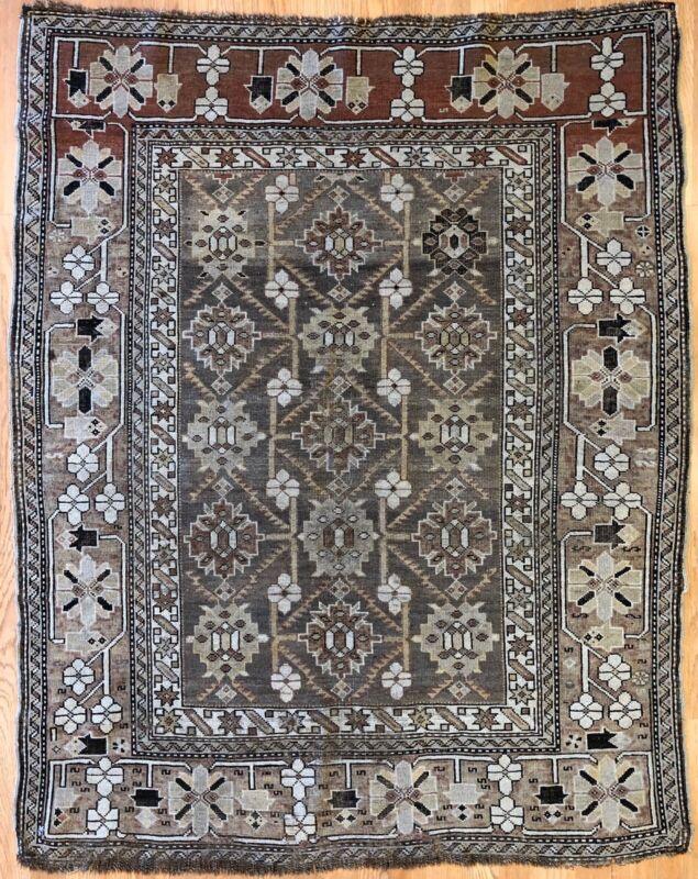 Classic Caucasian - 1900s Antique Kazak Rug - Tribal Nomad Carpet - 3.11 X 4.11