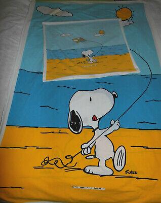 �sche Stoff The Peanuts 80er vintage fabric bedding 80s diy (Diy Kinderbett)