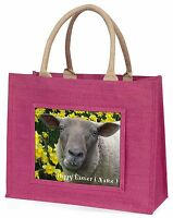 Personalizzato Pasqua Pecora+giunchiglie Grande Rosa Borsa Shopping Natale, Rosa-  - ebay.it