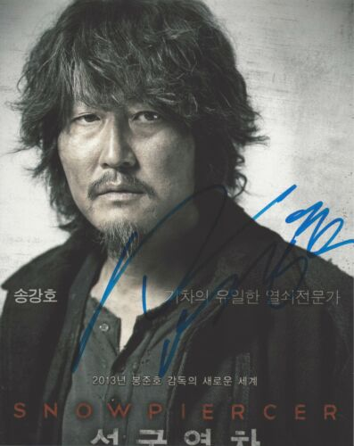 ACTOR SONG KANG-HO SIGNED SNOWPIERCER 8x10 PHOTO A w/COA PARASITE MOVIE THE HOST