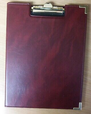 Deluxe Letter Size Clipboard Pad Holder Burgundy Padfolio By Sparco Brand - New