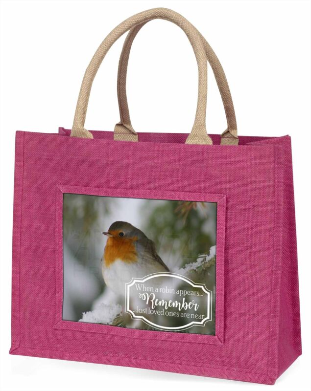 Little+Robin+Red+Breast+Large+Pink+Shopping+Bag+Christmas+Present+Id%2C+Robin-1BLP