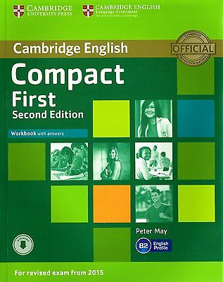 Cambridge English COMPACT FIRST FCE Workbook SECOND EDITION w Answers +Audio NEW