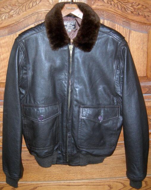G1 Navy Goatskin Leather Bomber Jacket | eBay