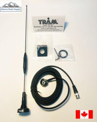 TRAM 1091 BNC Scanner Antenna Kit NMO Tri-Band 17