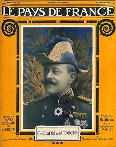 Portrait Général Georges Prosper Anne Claret de la Touche/Gel Wielemans 1915 WWI