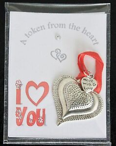Heart Token I Love You Keepsake Gift Message On The Back