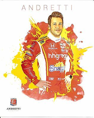 2016 Marco Andretti Indianapolis 500 Photo Card Postcard Indy Car Hh Gregg Honda