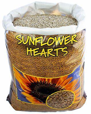 Premium SUNFLOWER HEARTS for year round feeding of all wild garden bids 20kg