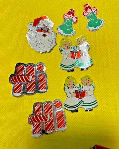 Vintage Lot of 7 Dennison, U.S.A. Gummed Christmas Seals in Box