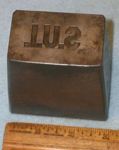 WWI 1918 STATE UNIVERSITY OF IOWA SUI Collar Pin Stamping Die * MC LILLEY