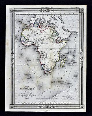 1846 Bocage Map - Africa - Guinea Egypt Cape Colony South Senegambia Madagascar