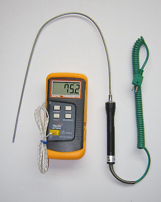 K-type Thermocouple Thermometer W 19 Stainless Steel Probe Insertion Sensor Tc5