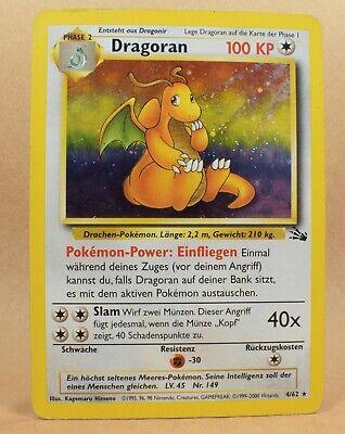 Pokemon TCG Card German Holo Rare Fossil Set 4/62 Dragonite Dragoran